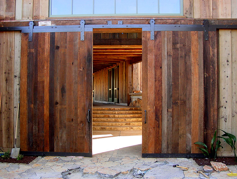 Door Barn Wood And Mirror 1 Panel Stained Sliding Barn Interior Door