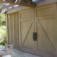Handmade Red Cedar Barn Doors By Tradecraft Custom Woodworking