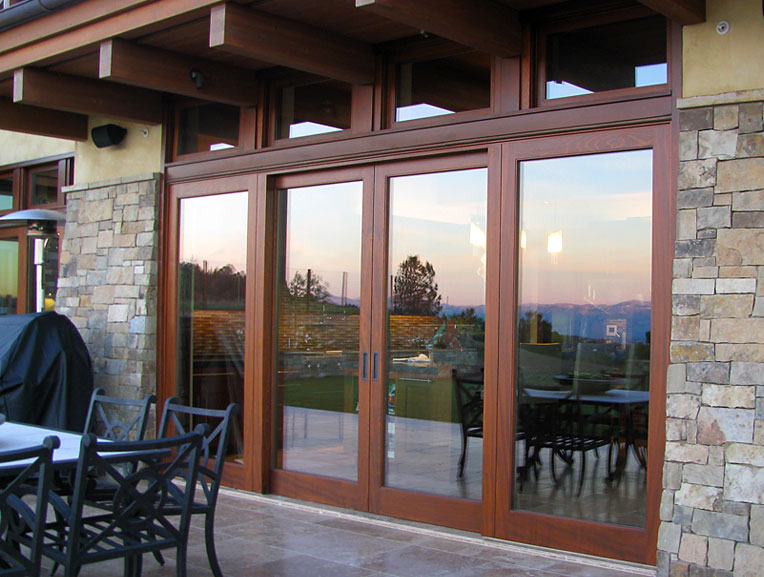 Northstar woodworks custom sliding doors craftsmanship for Exterior sliding doors