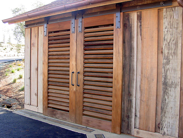 Exterior Wood Louvered Doors